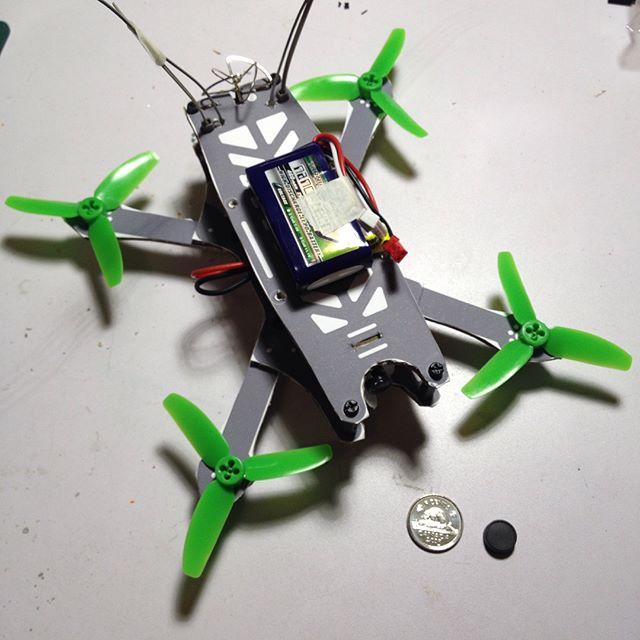 Quadcopter under 250 grams.